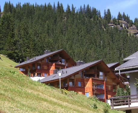 Bild 2: Holzhäuser im Berner Oberland