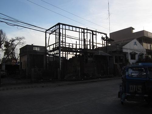 Haus beim Abriss