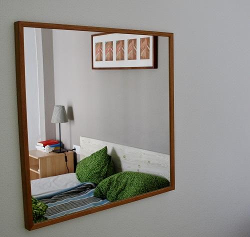Schlafzimmer im Spiegel