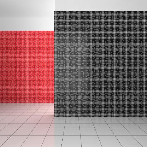 Mosaiksteine in großer Zahl sind wieder im Trend. Unterschiedliche Farbabstufungen halten das Bild lebendig.