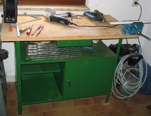 auch der hobbyhandwerker braucht gute arbeitsbedingungen. Black Bedroom Furniture Sets. Home Design Ideas