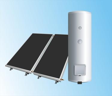 Bild2: Sonnenkollektoren und Wärmespeicherung