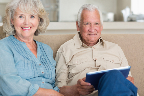 Bild 1:  Glücklich in der eigenen Wohnung bis ins hohe Alter