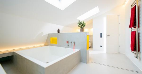 Modernes Badezimmer mit Corian-Elementen