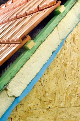 Bild 1: Wärmedämmung am Hausdach