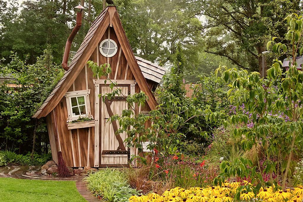 der beste Platz für das Gartenhaus